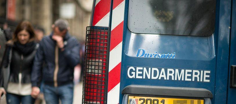 Un véhicule de la gendarmerie.