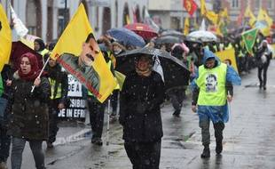Environ 10.000 Kurdes ont défilé samedi à Strasbourg.