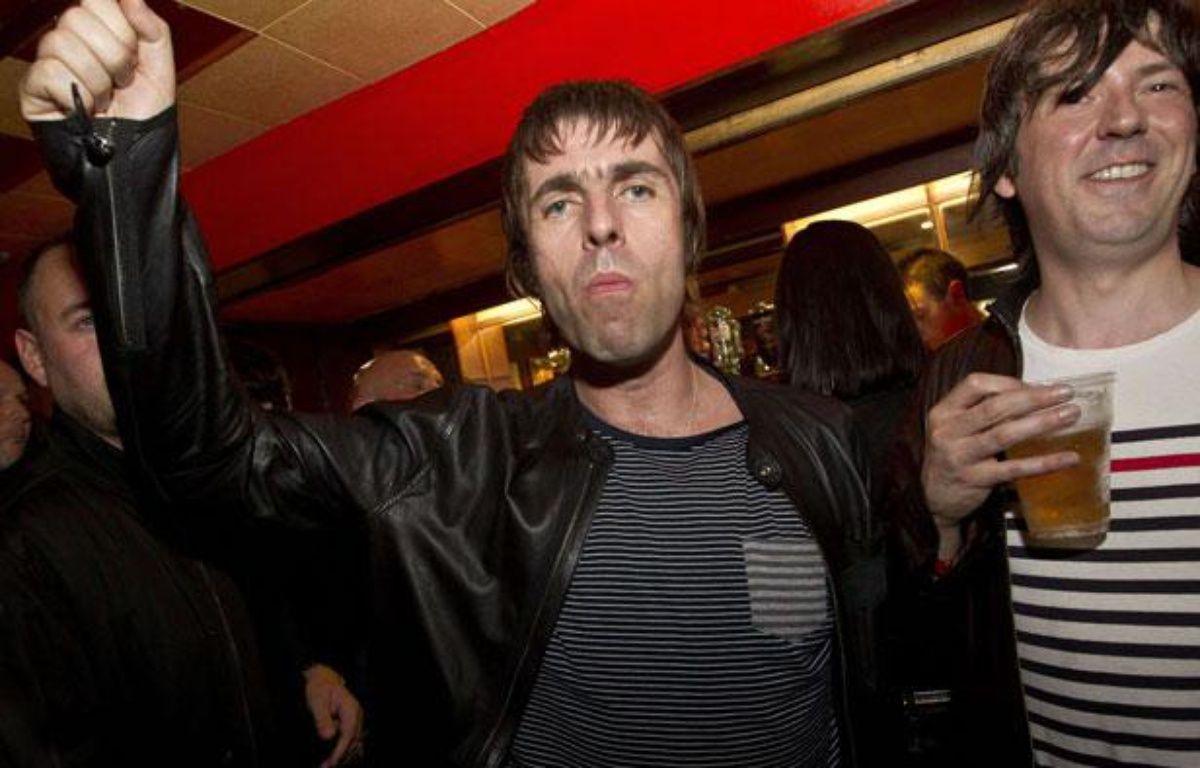 Liam Gallagher lors d'un concert, le 1er août 2012 à Londres. – J.Ryan/SIPA