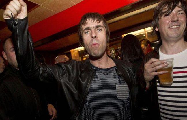 Liam Gallagher lors d'un concert, le 1er août 2012 à Londres.