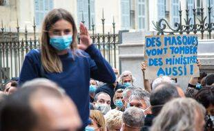 Manifestation à Marseille contre les nouvelles mesures gouvernementales