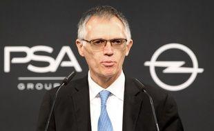 Le patron du groupe PSA Carlos Tavares le 9 novembre 2017 en Allemagne.