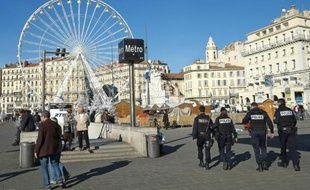 Patrouille de police, le 17 novembre 2015 à Marseille