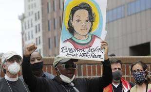 Manifestation en hommage à Breonna Taylor, tuée en mars dernier par la police aux Etats-Unis.