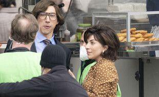 Les acteurs Adam Driver et Lady Gaga sur le tournage de «House of Gucci»