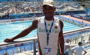 Le nageur burkinabé, Pascal Zoundi, lors des championnats du monde de natation de Rome, le 28 juillet 2009.