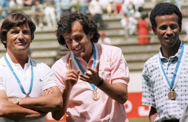 Henri Michel avec Platini et Tigana au Mondial 1986.