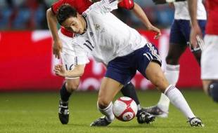 Samir Nasri lors du match Norvège-France, le 11 août 2010.