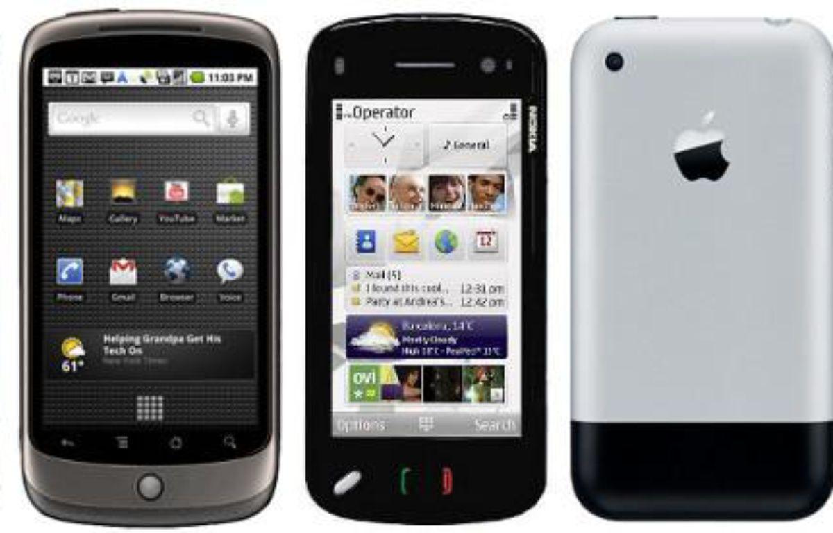 Un iPhone, un Nexus One et un Nokia N97 – DR