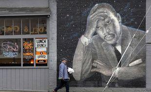 Une fresque représentant Martin Luther King aux Etats-Unis