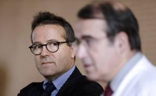 Martin Hirsch, directeur de l'Assistance publique-Hôpitaux de Paris (AP-HP), le 12 janvier 2015 à l'hôpital de la Pitié-Salpêtrière.
