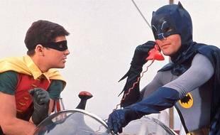 Burt Ward et Adam West dans Batman (1966) de Leslie H. Martinson