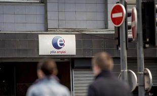 Une agence Pôle Emploi le 28 avril 2015 à Lille