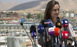 Angelina Jolie à Mossoul (Irak) le 17 juin 2018