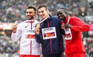 Pierre-Ambroise Bosse a remporté le 800m des Mondiaux de Londres, mardi.