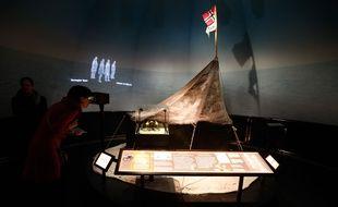 LYON, le 29/01/2015 L exposition A la conquete du pole Sud raconte les expeditions du norvegien Roald AMUNDSEN et du britannique Robert SCOTT au musee des confluences. :Fabrice Elsner/SIPA/1501291702