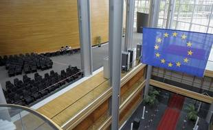 Le Parlement Européen. Visite de chantier pour la presse en vue de la validation de la prochaine session à Strasbourg le 18 09 2008