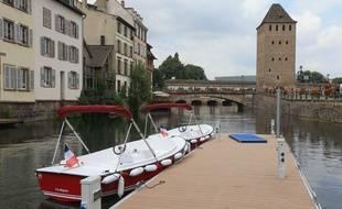 Premier incident d'unbateau électrique sans permis avec 9 personnes à bord en plein cœur de Strasbourg (Archives)