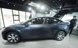 Une voiture Tesla en Chine le 4 janvier 2021 (illustration).