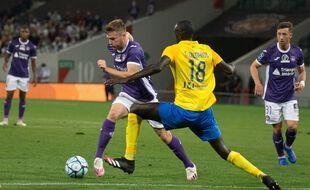 Rhys Healey, déjà auteur de neuf buts en 18 matchs de Ligue 2 cette saison avec le TFC.