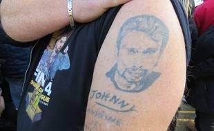 Philippe, un fan rémois, a déjà pris rendez-vous pour faire son deuxième tatouage en hommage à Johnny Hallyday.