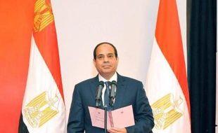 Le général Abdel Fattah al-Sissi sur le point de prendre ses fonctions de président le 8 juin 2014 au Caire