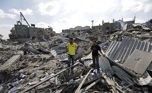 Ruines dans la bande de Gaza, le 26 juillet 2014.