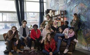 A gauche, Arthur (Robin Migné) et toute la clique de « Skam France » .