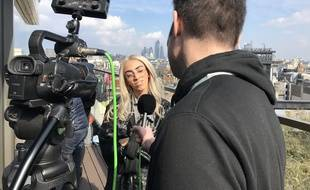 Bilal Hassani en interview quelques heures avant le concert London Eurovision Party à Londres, le 14 avril 2019.
