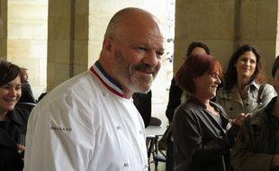 Philippe Etchebest a présenté son livre dans sa nouvelle brasserie bordelaise.