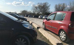 Le parking du Lido à Carnon