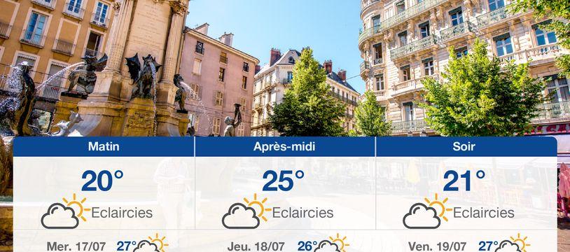 Météo Grenoble: Prévisions du mardi 16 juillet 2019