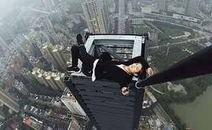 Le rooftopper Wu Yongning (image d'archive) a fait une chute mortelle de 62 étages, le 8 novembre 2017.