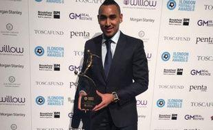 Dimitri Payet lors de la remise du trophée du joueur londonien de l'année le 3 mars 2016.