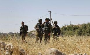 Illustration de soldats israéliens près d'Hébron en Cisjordanie le 30 juin 2016.