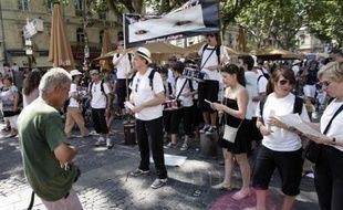 Au festival d'Avignon le 12 juillet 2009