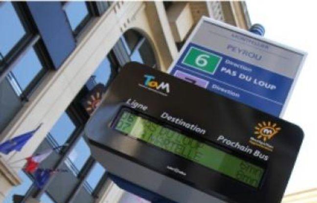 Borne d'information voyageurs à Nice