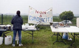 Le 19 mai 2019, lors d'un rassemblement de militants du Collectif pour le Triangle de Gonesse contre le projet Europacity.