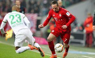 Franck Ribéry lors du match entre le Bayern et le Werder le 12 mars 2016.