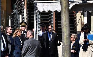 Le ministre de l'Intérieur, Christophe Castaner, à Romans-sur-Isère, le 4 avril 2020.
