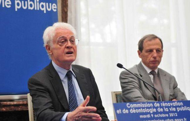 Lionel Jospin, qui dirige la commission de rénovation et de déontologie de la vie publique, lors d'une conférence de presse à Paris, le 9 octobre 2012.