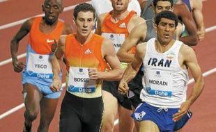 Pierre-Ambroise Bossé (ici à Doha) a remporté son 1er titre de champion national sur 800 m.