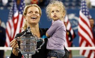 Kim Clijsters après sa victoire à l'US Open 2010.