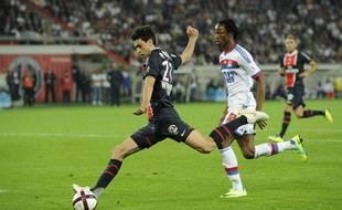 Javier Pastore juste avant son but face à Lyon, le 2 octobre 2011
