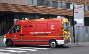 Le service des urgences de l'hôpital de Valenciennes, le  22/12/2014.