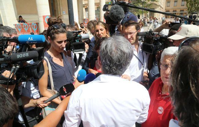 Jean-Luc Mélenchon face aux caméras