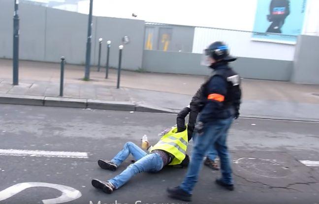 Une séquence de la vidéo virale tournée à Rennes pendant l'acte 10.