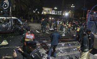 L'explosion a eu lieu en plein cœur d'une manifestation de pharmaciens.