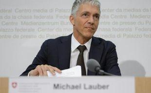 Le procureur général suisse Michael Lauber lors d'une conférence de presse le 17 juin 2015 à Bern