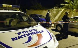 Périmètre de sécurité à Marseille après l'agression d'un enseignant juif, le 18 novembre 2015
